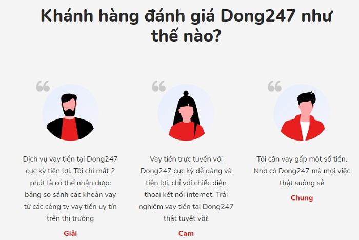 Khách hàng đánh giá về Dong247