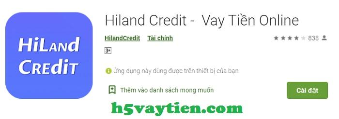 Hiland Credit app